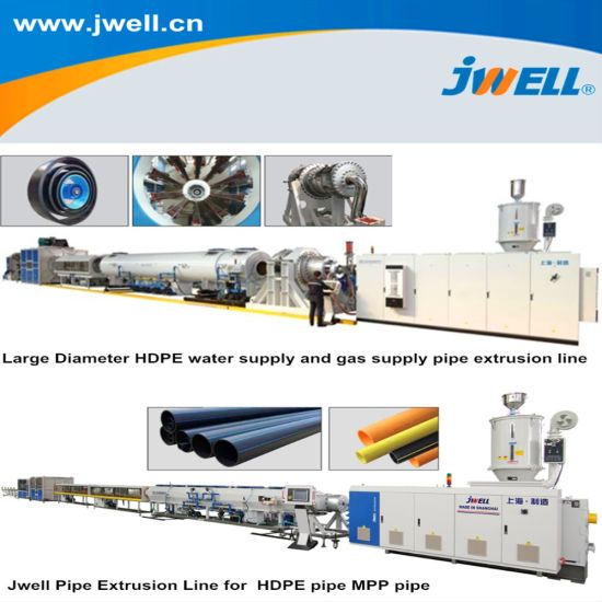 Jwell Made Plastic Single-Layer Multi-Layer Drainage/Sewage/Pressure/Gas/Water/Electrical Protection Pert PP Mpp PP-R PPR PVC HDPE PE Pipe Extrusion Machine