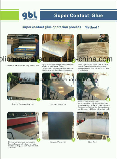 China Supplier GBL Chloroprene Neoprene Contact Adhesive pictures & photos