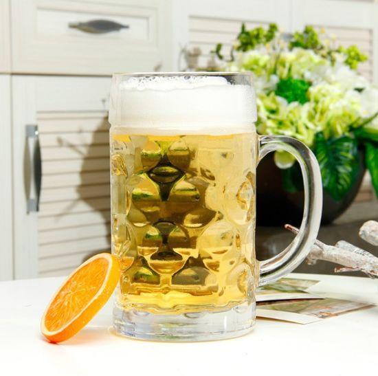 Dimpled Glass Jumbo Beer Mug Wine Mug