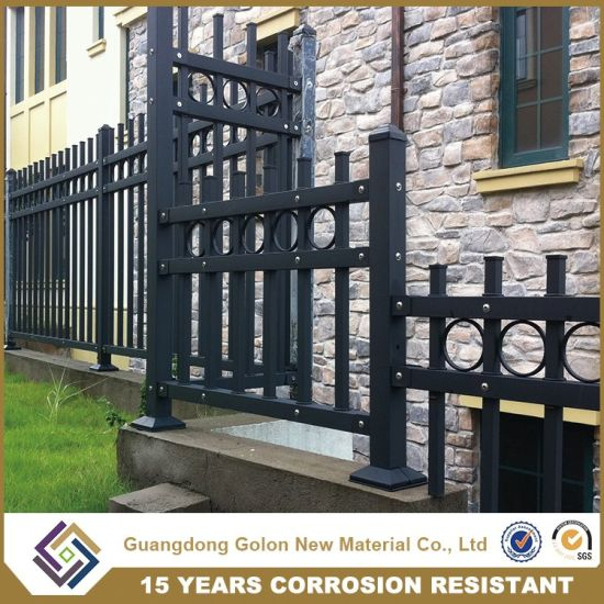 Wrought Iron Cast Iron Ornamental Spear Top Tubular Fence pictures & photos