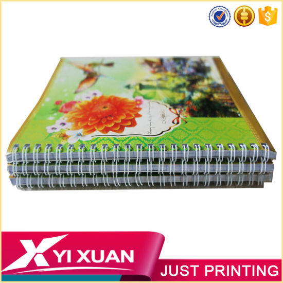 Wholesale Custom Printed Spiral Notebook with Colored Paper pictures & photos