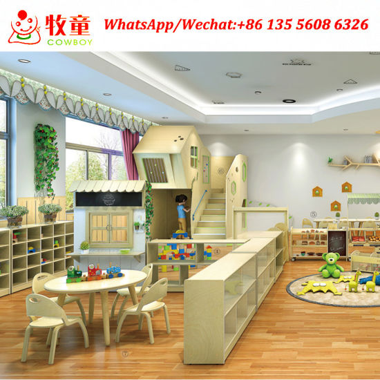 Solid Wood Children School Classrooom Montessori Furniture for Sale