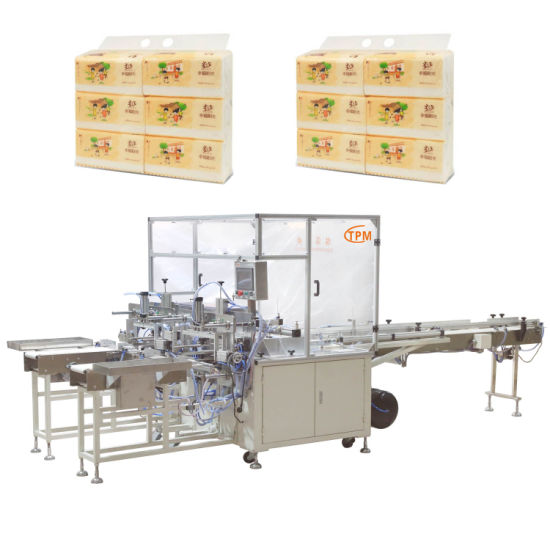 Semi Automatic Napkin Paper Baler Facial Tissue Bundling Packing Machine pictures & photos