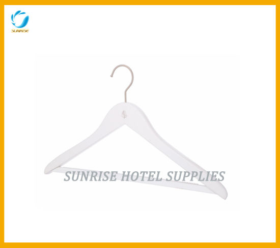 New Arrival White Wooden Clothes Hanger pictures & photos