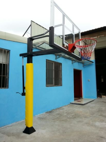 Good Quality Custom Underground Fixed Height Adjustable Outdoor Basketball Stand pictures & photos
