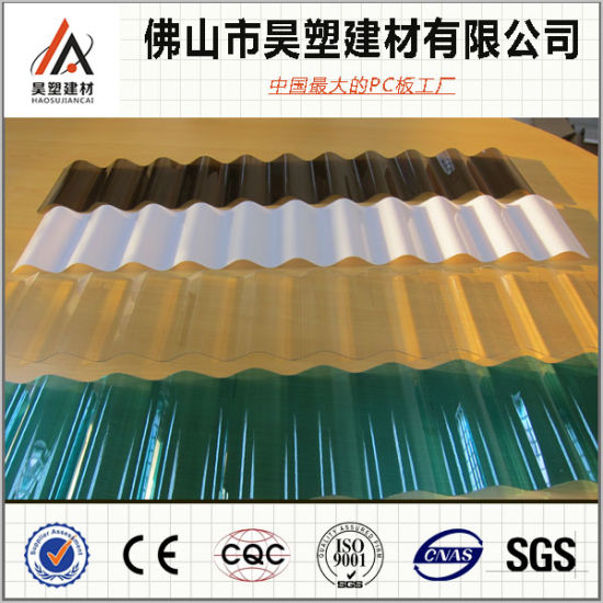 Opal Polycarbonate 840mm Corrugated Solid PC Sheet for Buliding Material pictures & photos