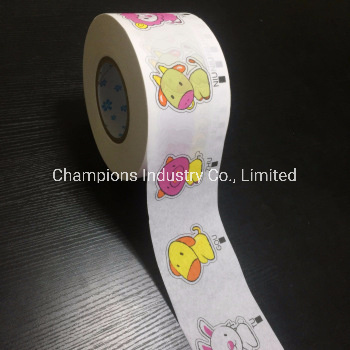 Printed Tissue Paper Frontal Tape for Pull up Diaper pictures & photos