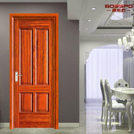 China Internal Mahogany Veneer Mdf Composite Interior Wooden Door