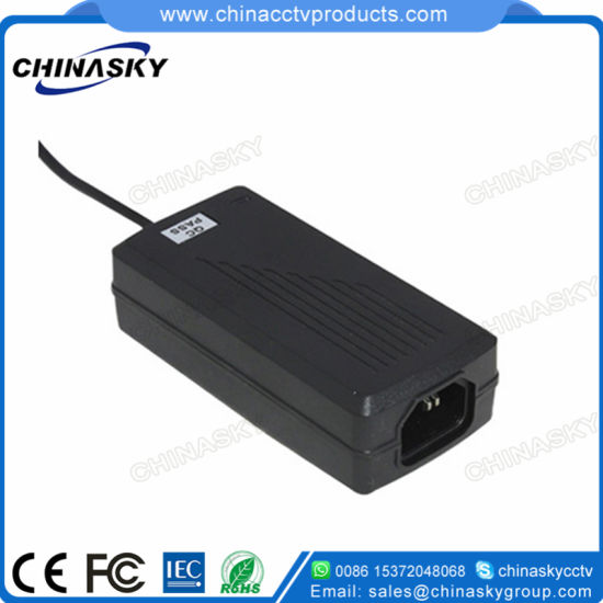 12VDC Table-Top Power Supply Adapter for CCTV Surveillance Cameras (S1240D)