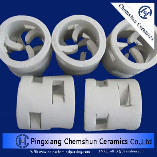 Ceramic One Partition Rings as Chemical Tower Packing (17~23% Al2O3) pictures & photos