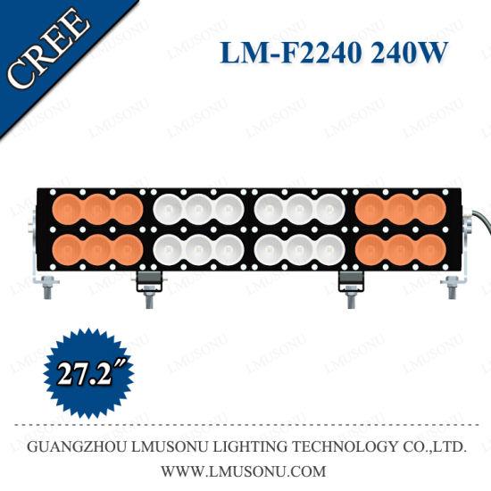 New 60W 120W 180W 240W 300W 360W 480W 600W CREE Xml Straight LED Light Bar Double Rows