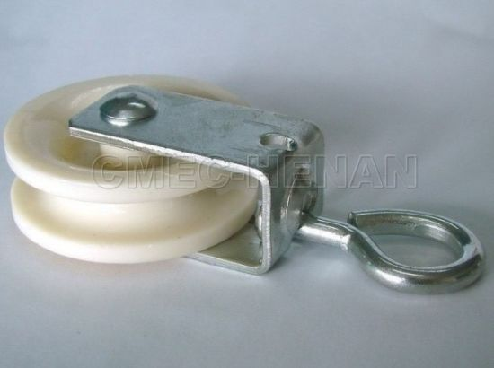 "1-7/8"" Nylon/Plastic Rope Pulleys Swivel / Poultry Equipment Comonents"
