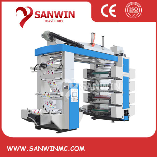 High Speed 8 Color Flexographic Printing Machine