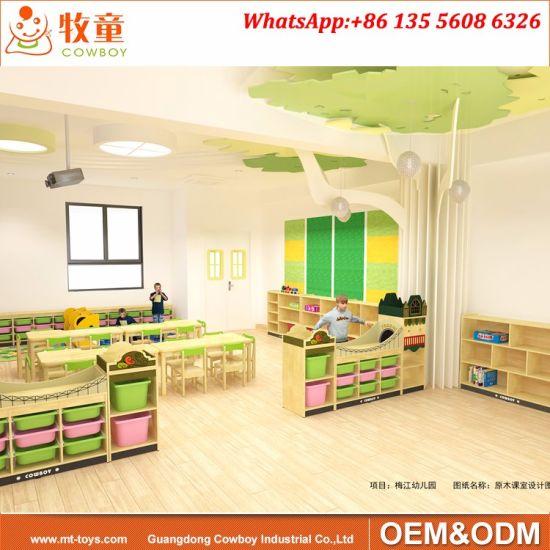 Hot Sale Kindergarten Furniture Children Toys Storage Wooden Cabinet