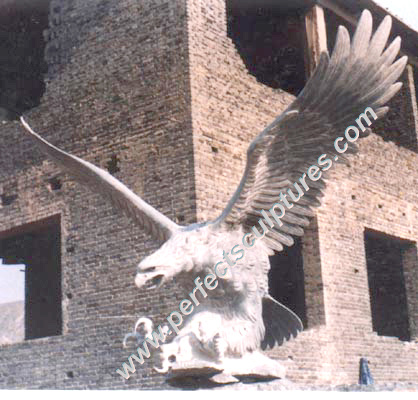 Carving Stone Marble Eagle Animal Sculpture for Garden Statue (SY-B012)