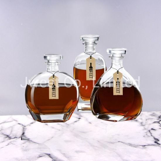 Wholesale Irregular High White 700ml Brandy Glass Bottle