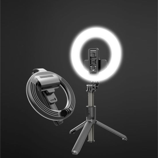 Portable Live Selfie Tripod Stick with Rechargeable battery Adjustable Light Mobile Phone Tripod Selfie Stick