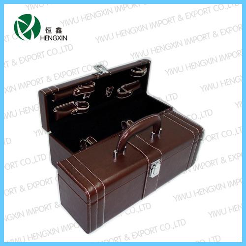 2019 New Hot Sale Factory Wholesale Leather Wine Bottle Case Box