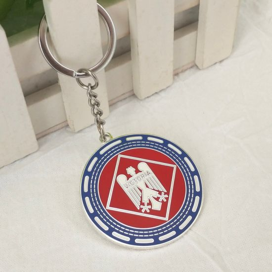 Maker Custom Metal Art Craft Enamel Keychain Hot Sale Fashion Decoration Keyring for Company Promotional Gift
