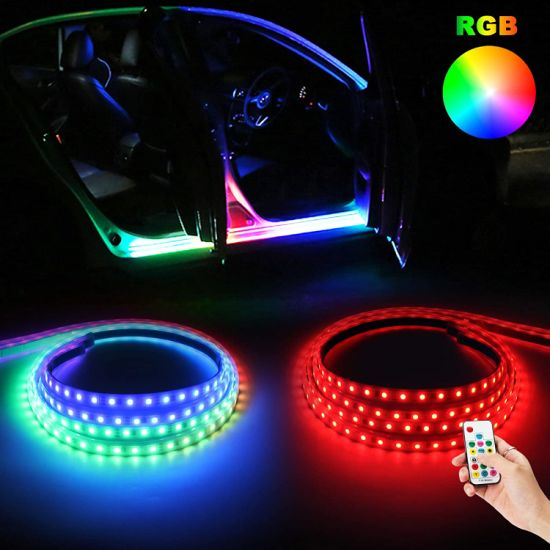 China 60inch Rgb Truck Led Running Board Lights Sequential Flexible Car Led Strip Lights Turn Signal Side Marker Courtesy Light Bar Strips With Wireless Remote China Truck Running Board Lights