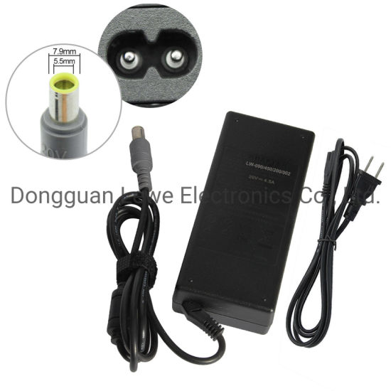 Wholesale Laptop Adapter for Lenovo 20V 4.5A 7.9*5.0mm DC AC Adapter Notebook Power Charger