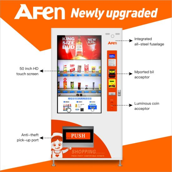Afen Automated Card Payment LCD or Touch Screen Vending Machine