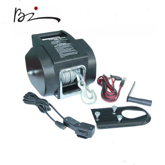 UTV 12V/24V DC Portable Electric Boat Winch with 5000lb Pulling Capacity