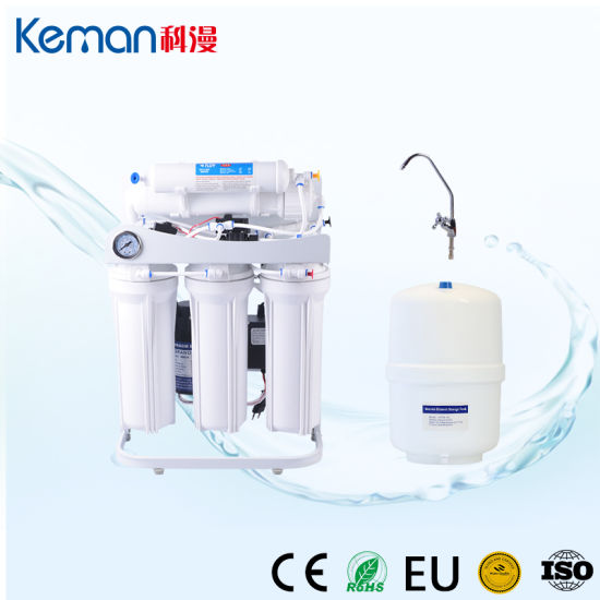 Hot Sale! ! ! 5 Stage Reverse Osmosis Water Purifier with Steel Stand and Pressure Gauge