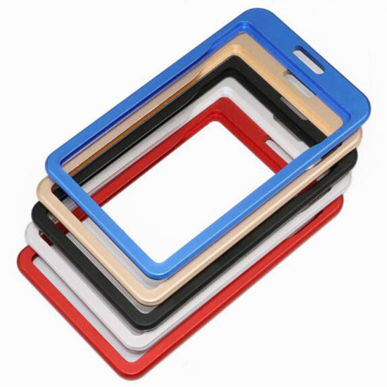 Aluminium Alloy Metal ID Card Badge Holder for Workers or Students or Trade Show or Visitor