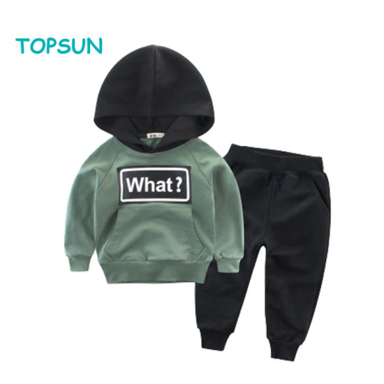 Children Baby Boys Tracksuit Set Camouflage Hooded Tops+Pants Clothes Set