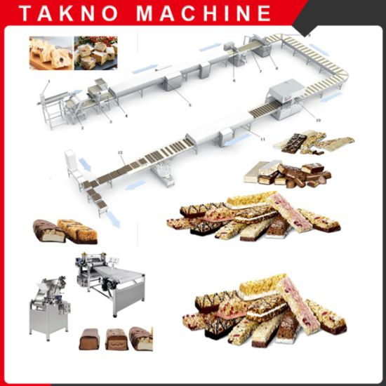 Automatic Multi Functional Nougat Candy Bar Production Line Machine