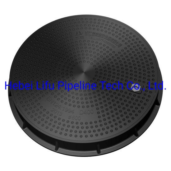 High Quality D400 FRP / SMC / Fiberglass / Composite Lockable Watertight Heavy Duty Round Manhole Cover and Frame BS En124