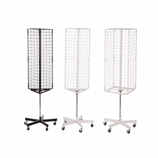 Triangle Hanging Free Standing Metal Spinner Wire Grid Display Rack