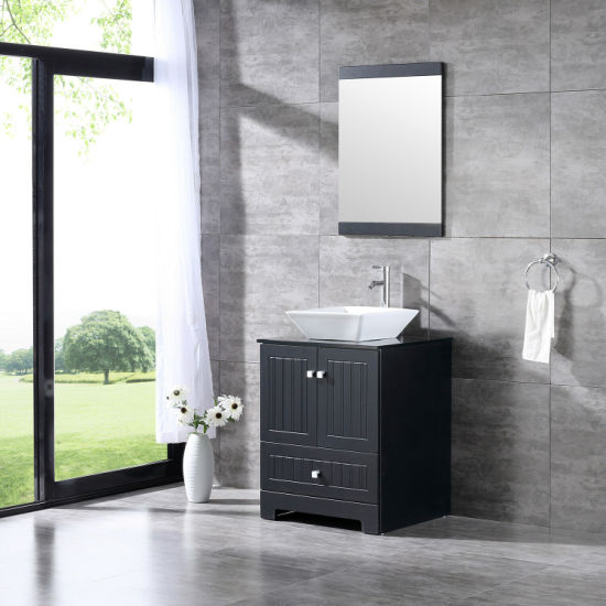 China Modern 24 Bathroom Vanity Cabinet Pvc Cover Ceramic Sink W