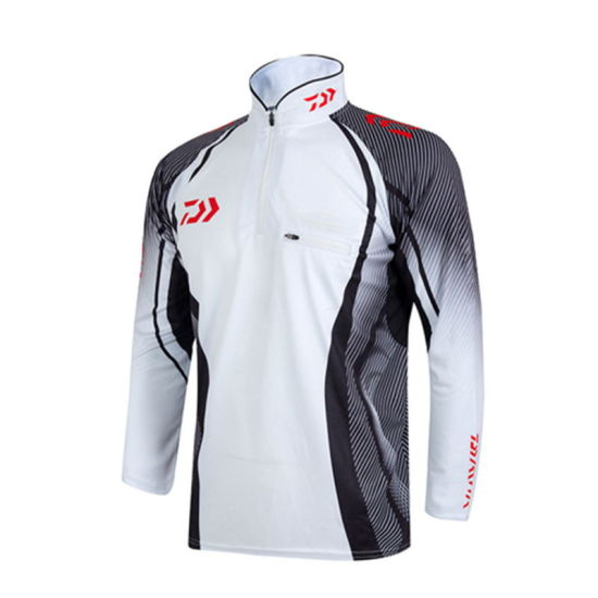 2019 Wholesale Custom Printed Men Sports Clothing Long Sleeve Muscle Fit T-Shirt for Fishing