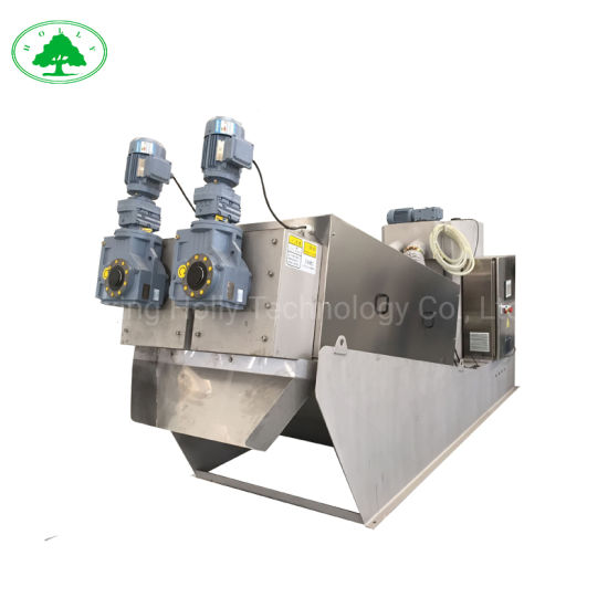 Screw Type Sludge Dewatering Machine for Sewage Treatment with Ce
