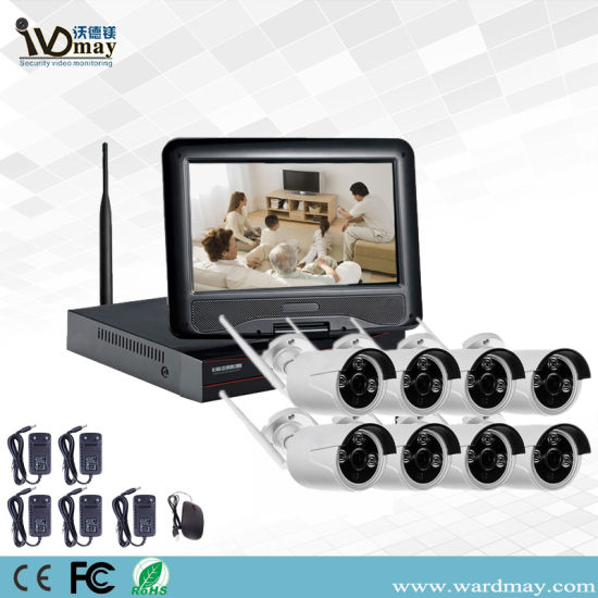 8CH CCTV Wireless System 1 3MP Support P2p Cloud
