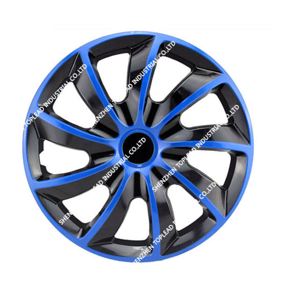 Plastic Black And Blue Car Wheel Cover Center Hubcaps For Universal