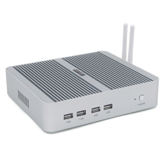 Fanless Mini PC Intel Core I3 7100u with 4G RAM 128g SSD 1tb HDD pictures & photos