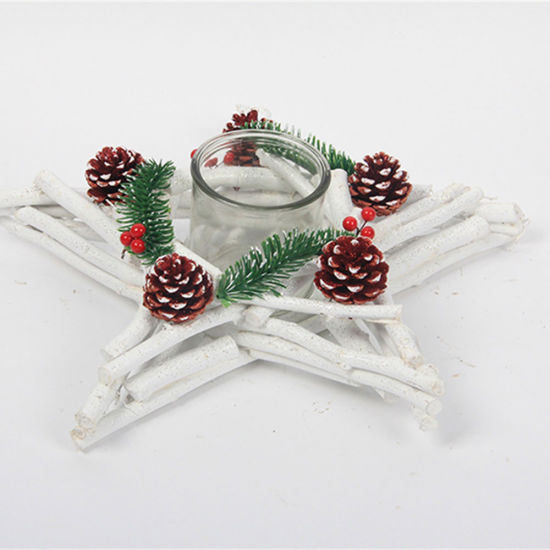 Party Supplies Wholesale Wooden Decoration Wooden Candle Holder for Christmas Decoration