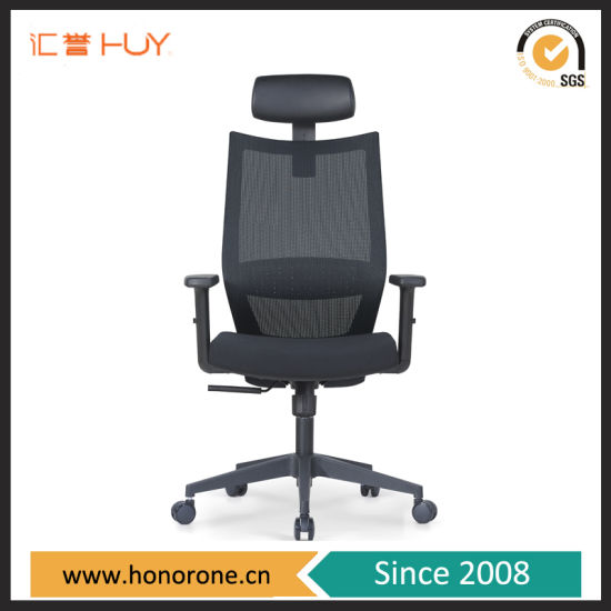Modern Office Furniture Executive Table Manager Office Leather Headrest Chair