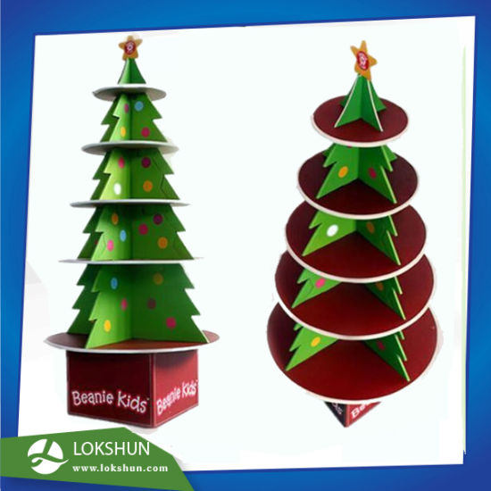 cardboard christmas tree display stand made with foamboard with 5 shelves suitable for chritmas gifts life size christmas tree stand