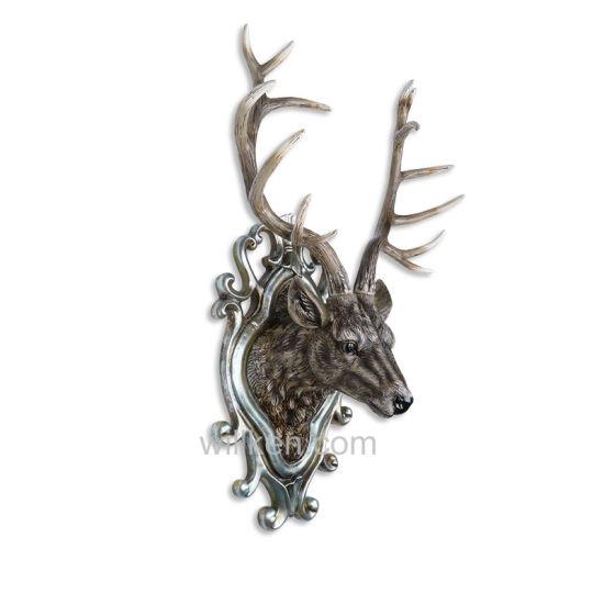 Whole Custom Elk Home Decor Resin Modern Animal Heads Wall
