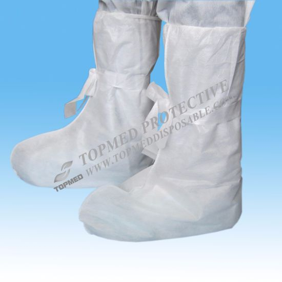 Disposable Nonwoven Blue Boot Covers or Shoe Booties Cover