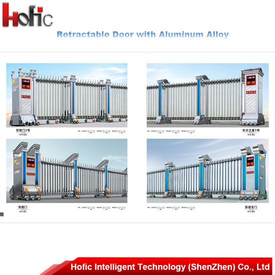 China Automatic Retractable Folding Gate Retractable Door - China ...