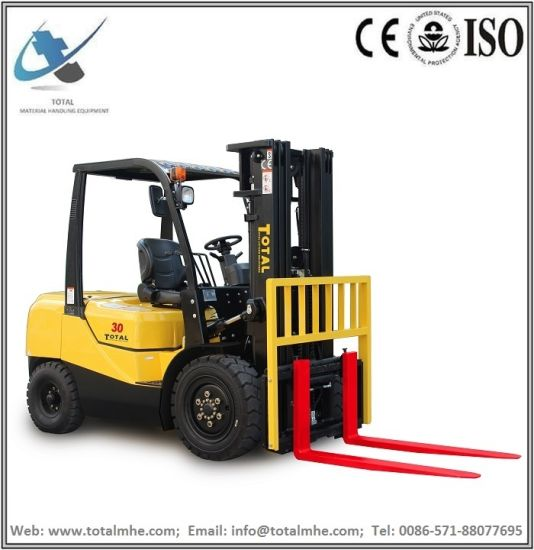 3 Ton Diesel Forklift Truck with Japanese Engine Isuzu C240 Engine