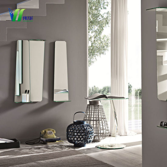 Room Decorative Modern Silver Mirros, Wall Mirror Panels For Living Room