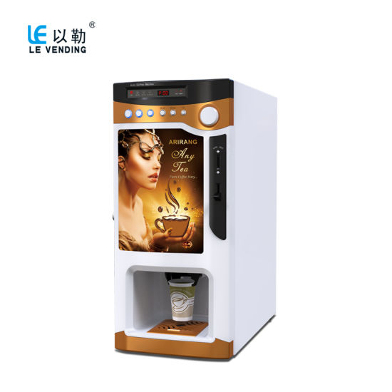 Easily Operated Instant Powder Coffee Vending Machine Le303V