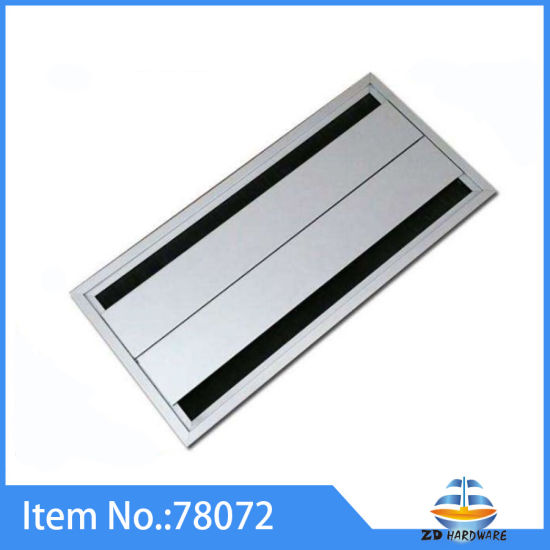 China Modern Aluminum Alloy Computer Line Outlet Table Line Cover - Table outlet box