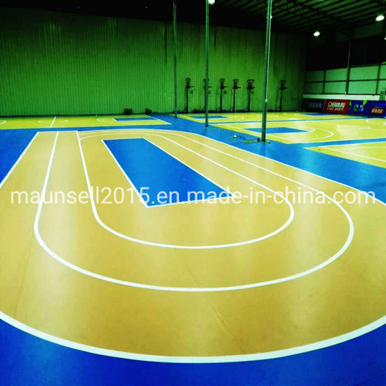 Vinyl PVC Sports Flooring for Basketball Courts and Running Track